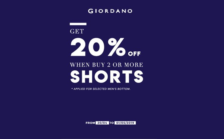 MEGA SALE-GIORDANO-BUY 2 OR MORE DISCOUNT 20%